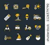 vacation icons set | Shutterstock .eps vector #1126579790