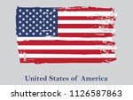 grunge flag of usa.vecor... | Shutterstock .eps vector #1126587863