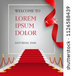 welcome to lettering with red... | Shutterstock .eps vector #1126588439
