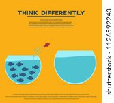 think differently concept. red... | Shutterstock .eps vector #1126592243