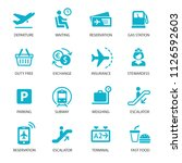 airport icons set | Shutterstock .eps vector #1126592603