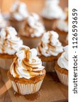 cupcakes or muffins with...   Shutterstock . vector #1126593659
