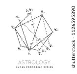astrology cosmogram vector... | Shutterstock .eps vector #1126595390
