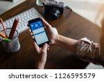 chiang mai  thailand july 04... | Shutterstock . vector #1126595579