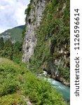 mountain river in abkhazia ... | Shutterstock . vector #1126596614