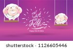 muslim holiday eid al adha. the ... | Shutterstock .eps vector #1126605446