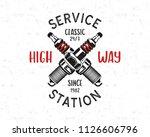 service station emblem design.... | Shutterstock .eps vector #1126606796