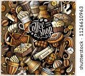 cartoon vector doodles coffee... | Shutterstock .eps vector #1126610963