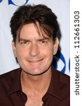 charlie sheen at the tca 2007...   Shutterstock . vector #112661303