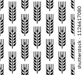 wheat ear spica icon seamless... | Shutterstock .eps vector #1126617080
