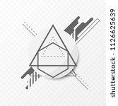 vector minimal geometric... | Shutterstock .eps vector #1126625639
