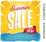 hot summer sale banner ... | Shutterstock .eps vector #1126628213