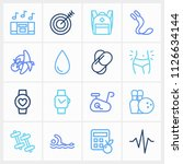 healthy icon set and swimming...