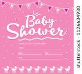 cute invitation cards baby... | Shutterstock . vector #1126634930