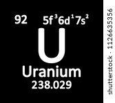 periodic table element uranium... | Shutterstock .eps vector #1126635356