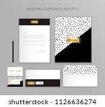 corporate identity business set.... | Shutterstock .eps vector #1126636274