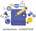 vector creative illustration of ... | Shutterstock .eps vector #1126637318