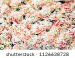 rose flowers are white and pink.... | Shutterstock . vector #1126638728
