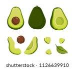 set of avocado illustrations... | Shutterstock .eps vector #1126639910