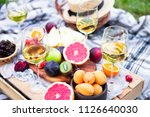 picnic background with white...   Shutterstock . vector #1126640030