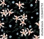little flowers. seamless... | Shutterstock .eps vector #1126643753