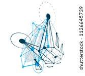 isometric abstract vector low... | Shutterstock .eps vector #1126645739