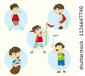 lomba 17 agustus. translate ... | Shutterstock .eps vector #1126647740