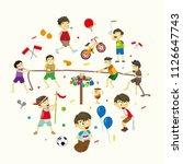 lomba 17 agustus. translate ... | Shutterstock .eps vector #1126647743