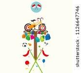 lomba 17 agustus. translate ... | Shutterstock .eps vector #1126647746