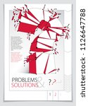 broken question mark exploding... | Shutterstock .eps vector #1126647788