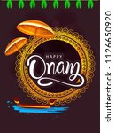 happy onam background south... | Shutterstock .eps vector #1126650920
