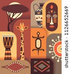 africa jungle ethnic culture... | Shutterstock .eps vector #1126652669