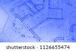 architecture design  blueprint... | Shutterstock .eps vector #1126655474