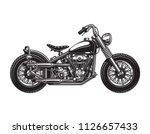 vintage chopper motorcycle side ...   Shutterstock .eps vector #1126657433