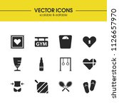 activity icons set with libra ...