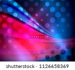 neon holographic fluid color... | Shutterstock .eps vector #1126658369