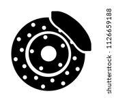 Car Brake Discs Icon. Car Part...