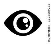 vector eyelashes illustration.... | Shutterstock .eps vector #1126659233