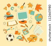 education icons in doodle style | Shutterstock .eps vector #112665980