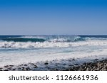 Sea Beach With Waves Under Blue ...
