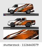 car decal design vector.... | Shutterstock .eps vector #1126663079