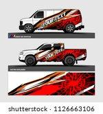 car decal design vector....   Shutterstock .eps vector #1126663106