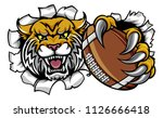 a wildcat angry animal sports...   Shutterstock .eps vector #1126666418