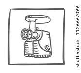 meat grinder machine icon...