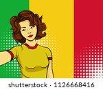 asian woman taking selfie photo ... | Shutterstock .eps vector #1126668416