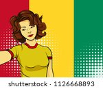 asian woman taking selfie photo ... | Shutterstock .eps vector #1126668893