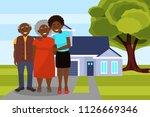 smiling afro american black... | Shutterstock .eps vector #1126669346