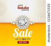 discount 50  off sale banner... | Shutterstock .eps vector #1126671533
