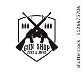 shooting gun logo for shooting... | Shutterstock .eps vector #1126675706