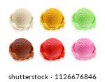 set of ice cream scoops of... | Shutterstock .eps vector #1126676846